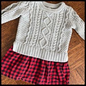 🆕 {GAP} Buffalo Plaid Sweater Dress